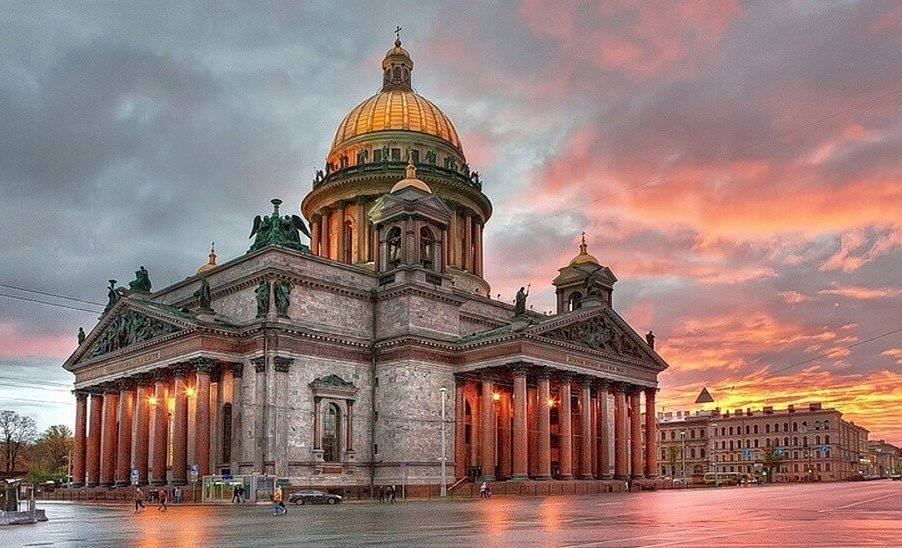 St. Isaac Cathedral in St. Petersburg Russia