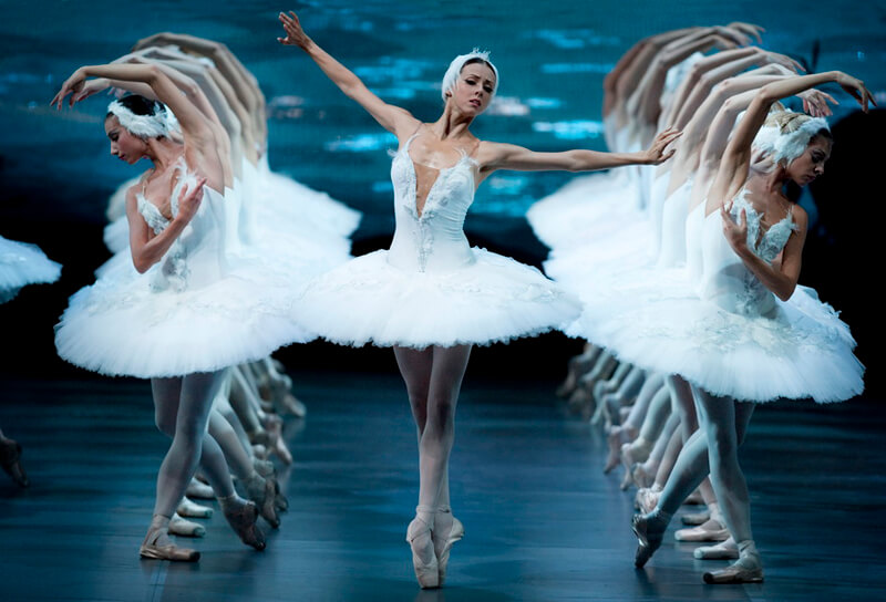 Swan Lake ballet in Mariinskiy theatre